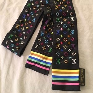 Authentic Louis Vuitton silk scarf bandeau